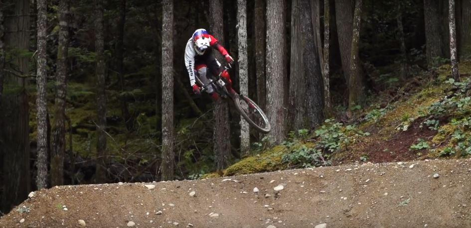 Finn Iles riding at Coast Gravity Park