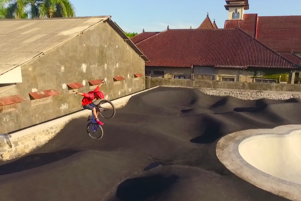 Video: Slinging Dirt with Claudio Caluori at Bali's Amplitude Pump Track