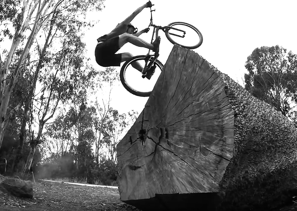Andrew Dickey riding trials in Melbourne, Australia