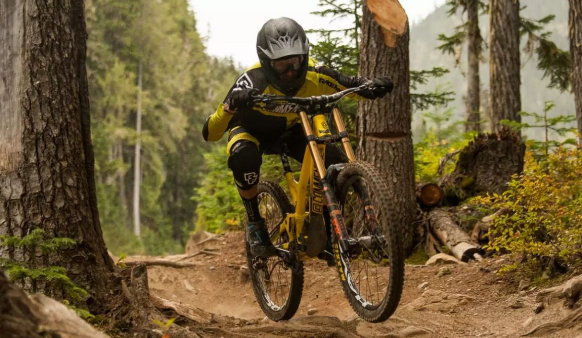 Remy Metailler rides Whistler Unspoke Trails
