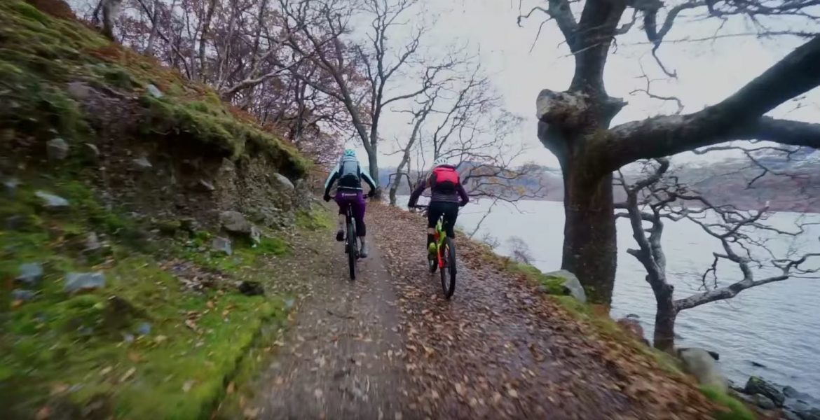 Nothing like a mild winter ride. Hannah Barnes hits the trails with her Mum.