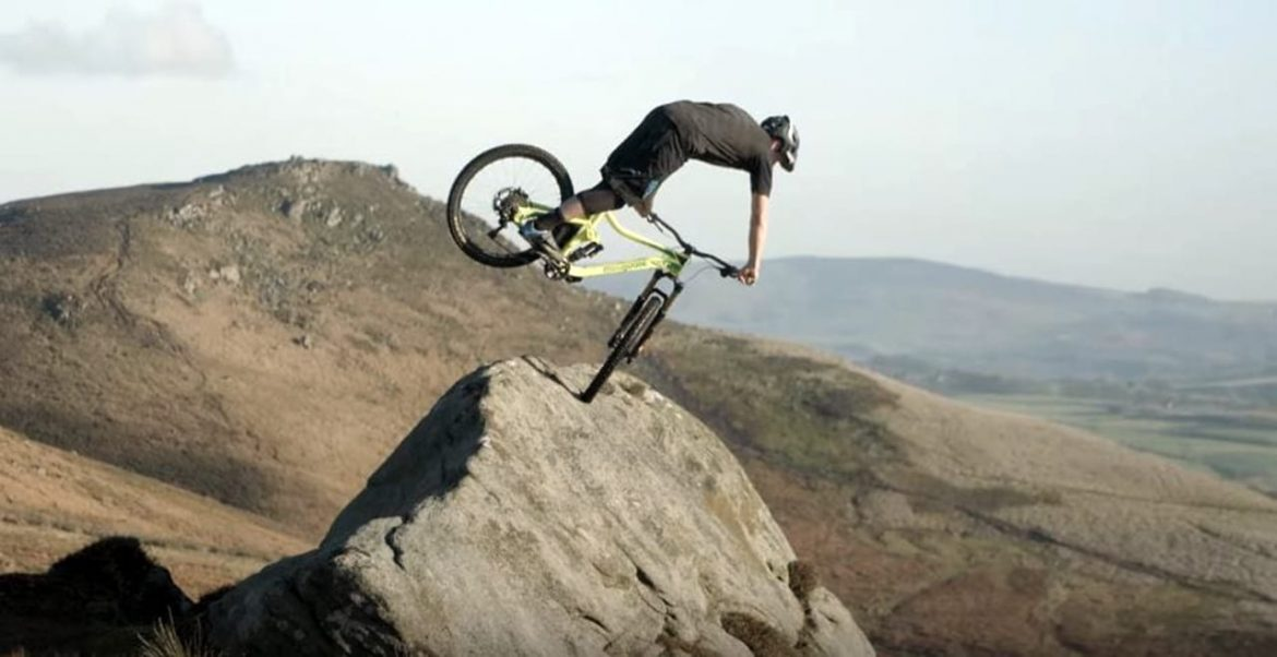 Chris Akrigg rides his mountain bike over Englands most beautiful natural terrain