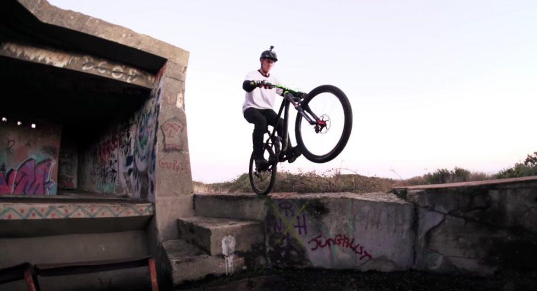 Sam Pilgrim rides a World War II fort