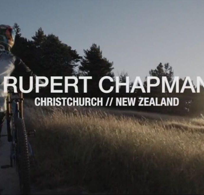 Mountain Biker & Pivot Factory Racing Athlete Rupert Chapman Riding Christchurch Adventure Park