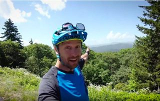 Mountain biking at bennett gap pisgah