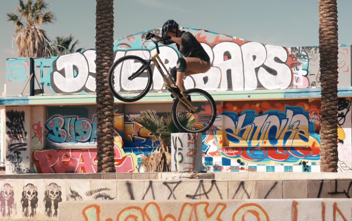 Mojave Desert Mountain Bike Trials Abandoned Waterpark