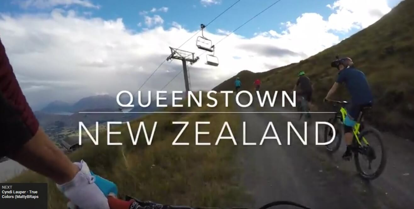 Queenstown Mountain Biking with Nate Hills on Rude Rock with Rainbows