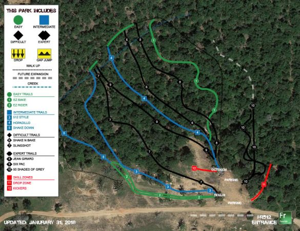 Freeride512 Trail Map