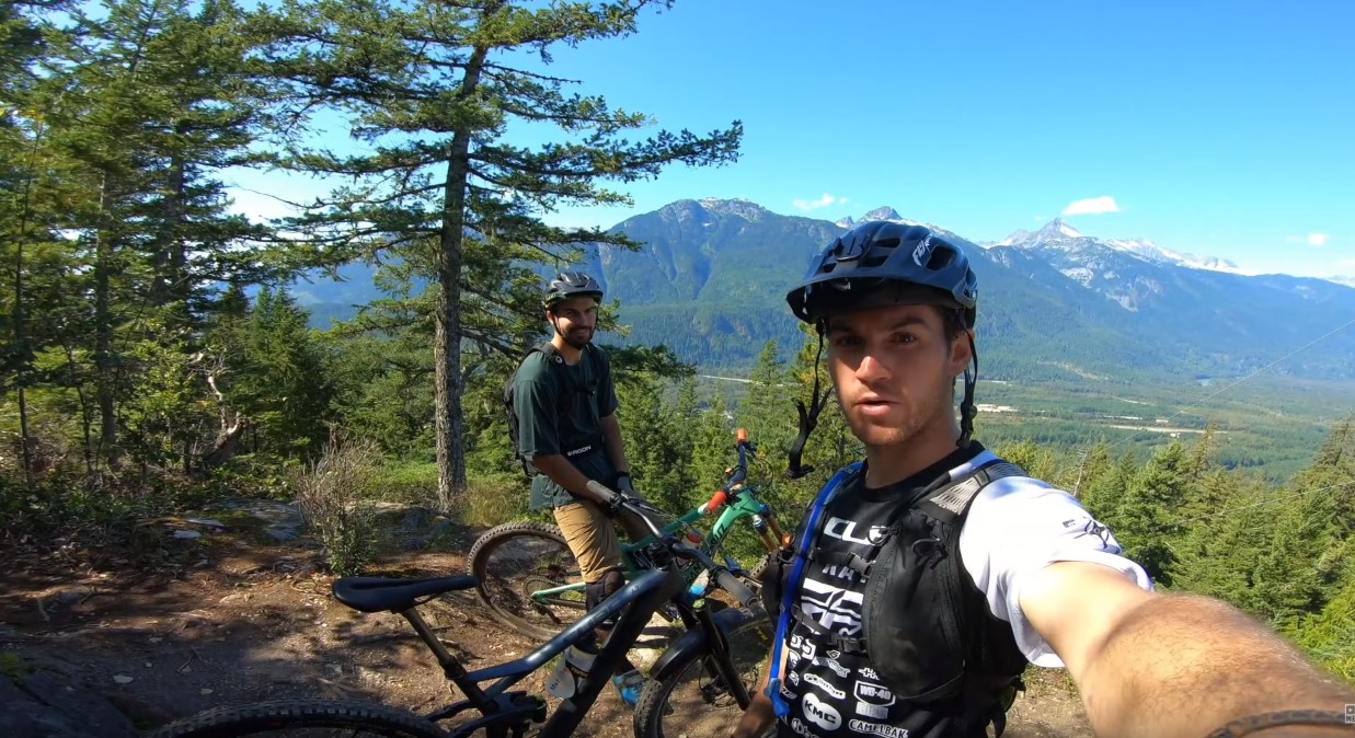 Remy Metailler rides the Pleasure Trail in Squamish BC