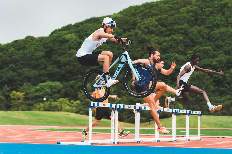 Must Watch   Japanese Bike Trials rider Tomomi Nishikubo tackles pentathlon on two wheels